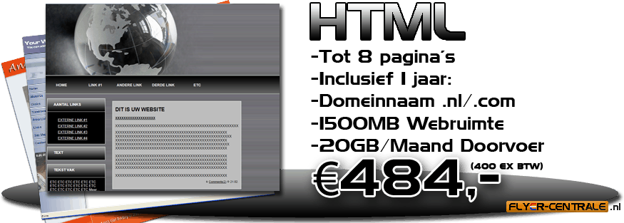 HTML website header big